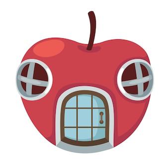 Яблочный дом вектор