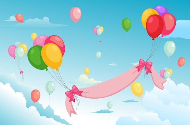 Текстура воздушный шар в небе