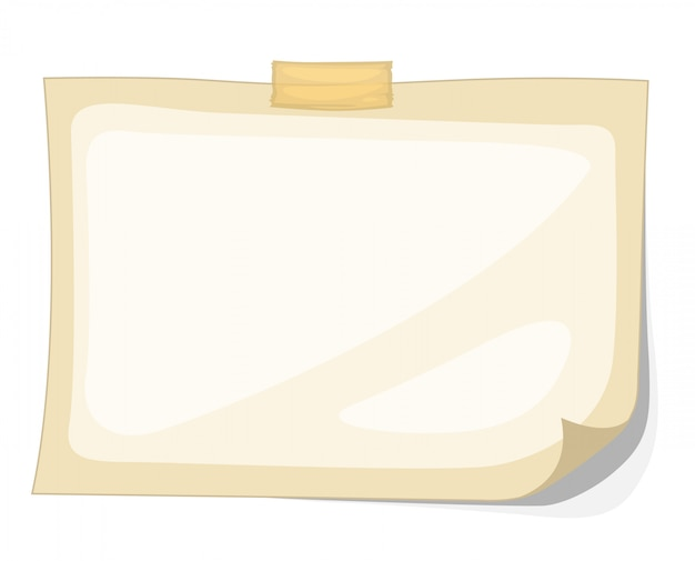紙のベクトルのイラストレーター