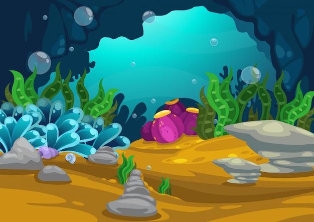 海の背景ベクトルの下