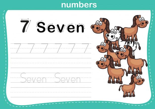 Соединение точечных и печатных чисел упражнение