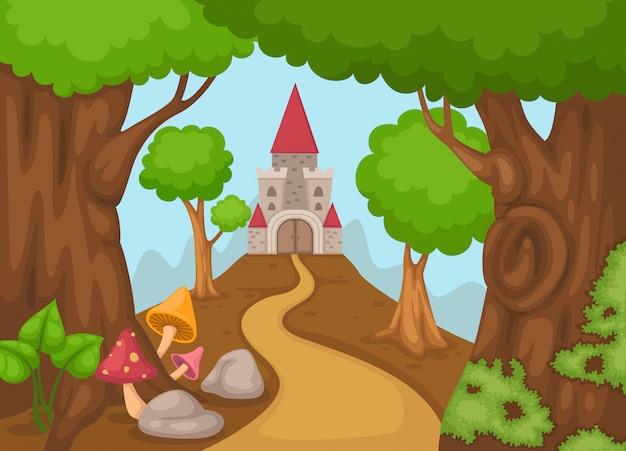 森の中の城