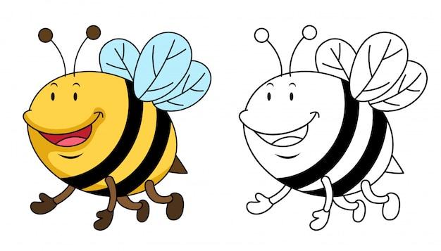 教育着色蜂のイラスト