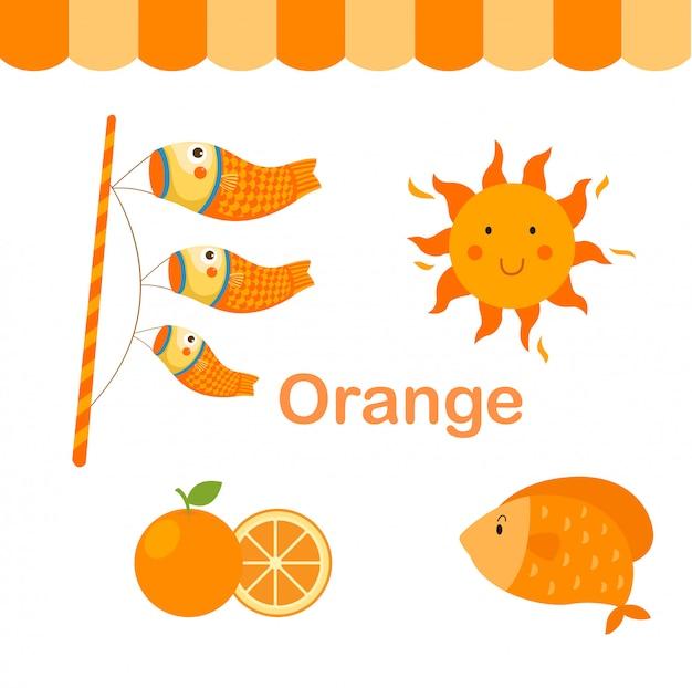 Иллюстрация изолированного цвета оранжевой группы