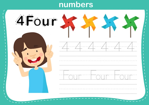 Соединение точечных и печатных чисел упражнение для детей дошкольного и детского сада иллюстрации,