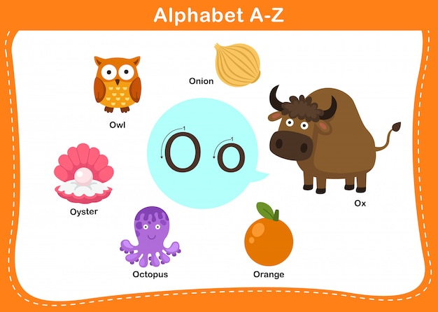 Алфавит буква о иллюстрации