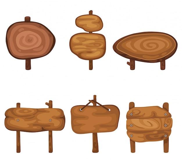 Набор деревянных панелей.