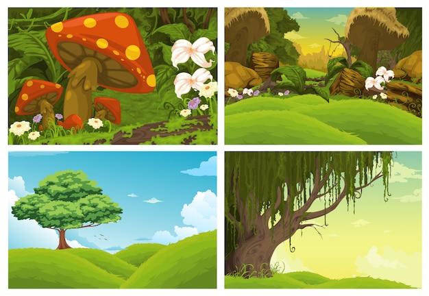 Красивый пейзаж, изолированных от иллюстрации