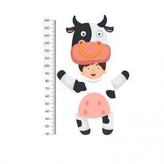 牛の衣装のメーターウォール