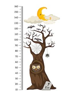 ハロウィンの木とメートルの壁
