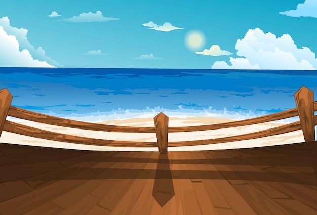美しい海の風景の背景