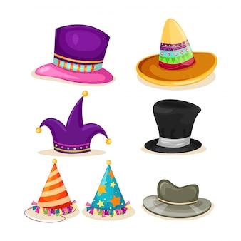 コレクションの帽子のイラスト