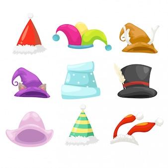 コレクション帽子のベクトル図