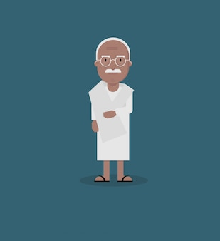 Ганди плоский дизайн