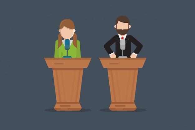 Говорить на конференции