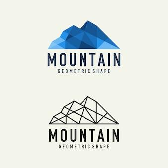 抽象的な幾何学的な山のロゴ
