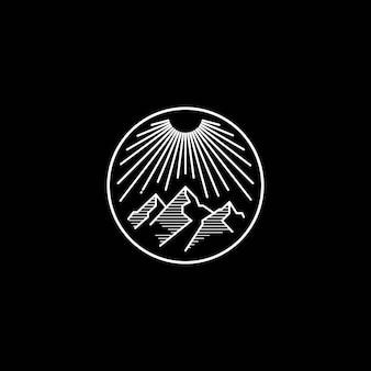 Открытый горный логотип