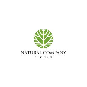 ユニークなエコロジーのロゴのテンプレート
