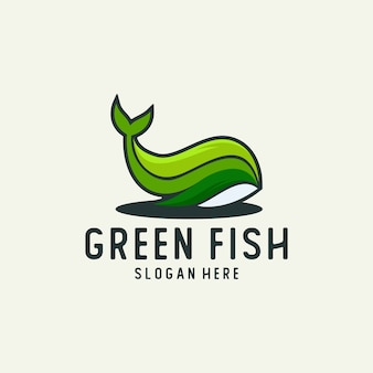 Логотип с зелеными листьями
