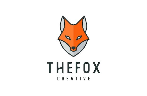 創造的なキツネのロゴのテンプレート