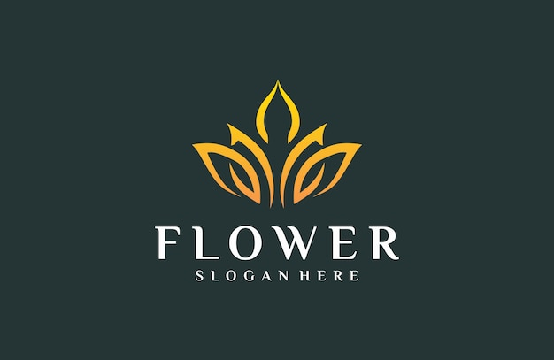 Элегантный логотип цветы
