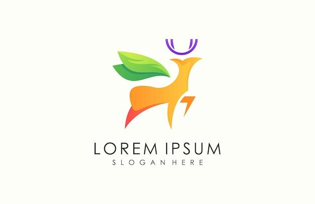 Современный олень логотип