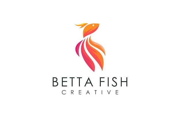 Современная рыба логотип, векторная иллюстрация с красочной современной концепцией