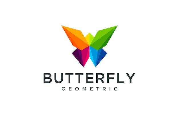 幾何学的な蝶のロゴ