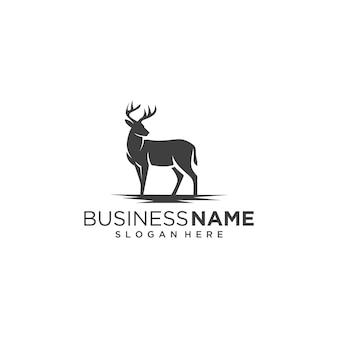 クラシックな鹿のロゴ