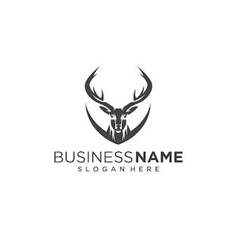 クラシックな鹿の頭のロゴ