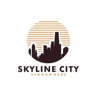 都市の建物のロゴ