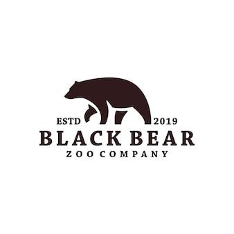 Черный медведь логотип