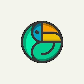 Значок логотипа знак птица