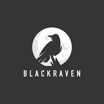 Силуэт ворона логотип