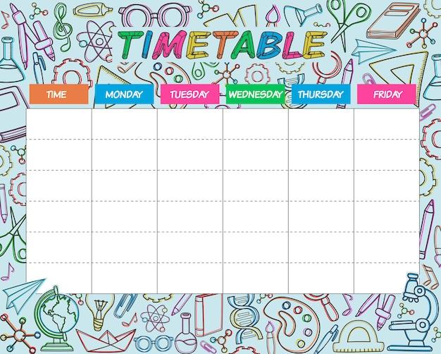 時刻表の色