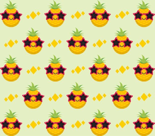 パイナップル柄