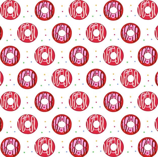 ドーナツカラフルなシームレスパターン