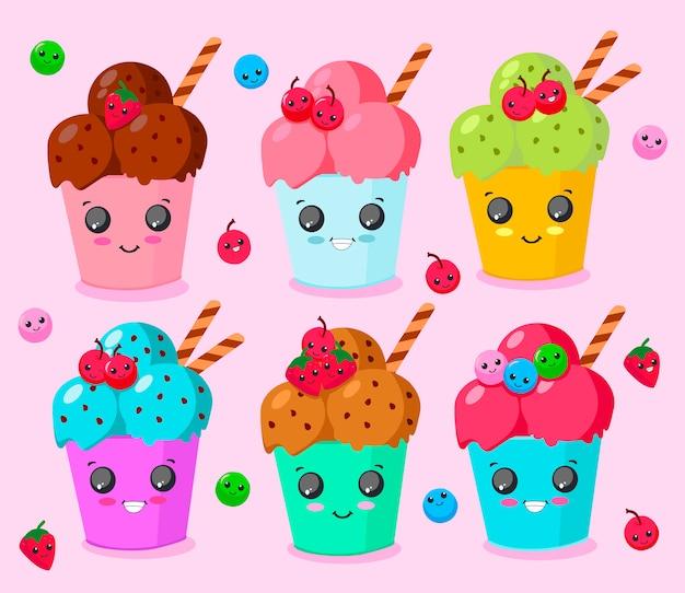 笑顔のアイスクリーム