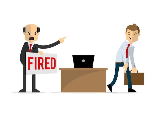 ビジネスマンが解雇