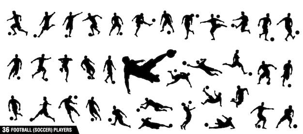 サッカー、サッカー選手のセット