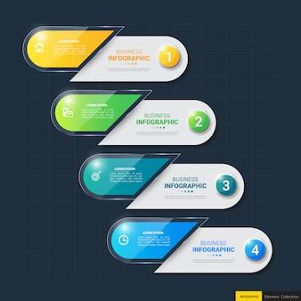 Современный инфографический шаблон
