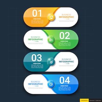 Инфографика баннер шаблон