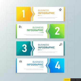Инфографики бизнес баннер дизайн шаблона.