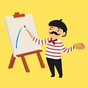 フランスの画家の漫画のキャラクター