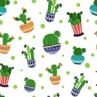 漫画家の植物や花とのシームレスなパターン