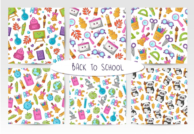 学校に戻るカワイイ