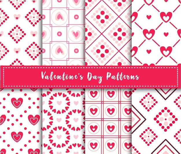 День святого валентина абстрактный бесшовный паттерн набор