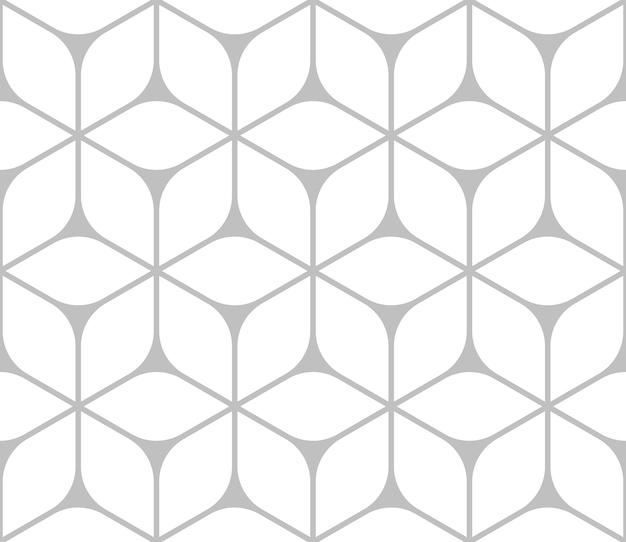 円形デザインの興味深い三角形六角形