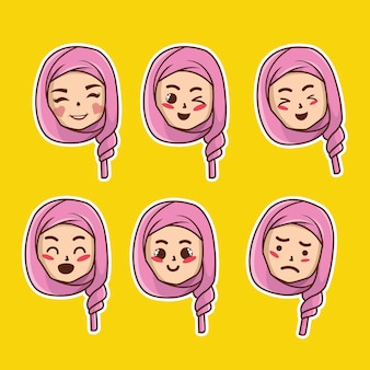 かわいい絵文字イスラム教徒ステッカー
