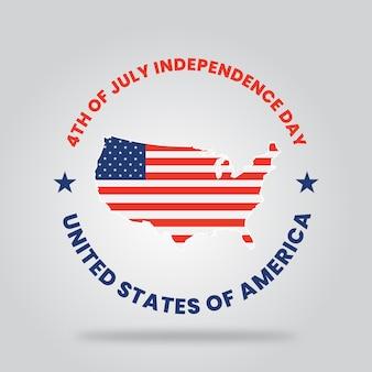 幸せな独立記念日アメリカ合衆国のタイポグラフィー